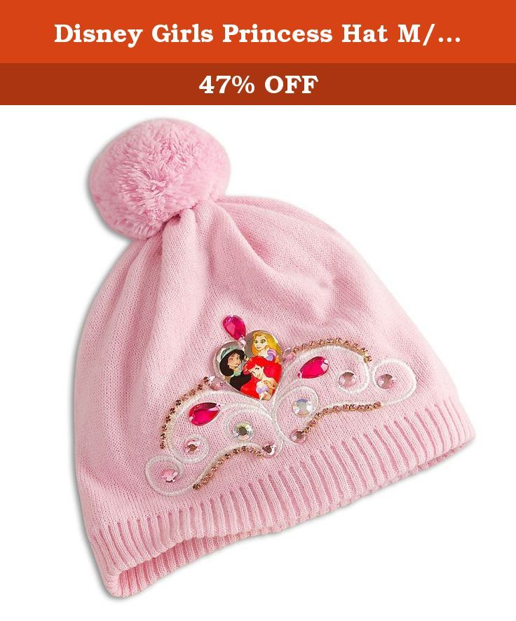bebb295f045 Disney Girls Princess Hat M L Pink. Keep your princess warm during a royal  winter in this enchanted Princess hat with a trio of fairytale favorites.