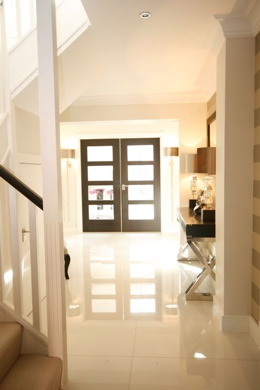 Bright light hallway with feature double doors and wall light bright light hallway with feature double doors and wall light heathfiled hallway console sisterspd