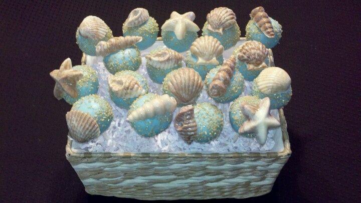 Seashell cakepops