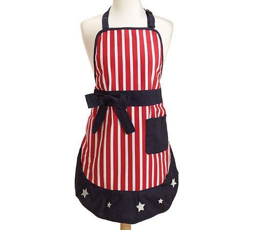 Patriotic Stars & Stripes 4th of July Apron for WOMEN $22.95 TOTAL! BEST PRICES * FREE WORLDWIDE SHIPPING Major Credit Cards Accepted www.shopculinart.com