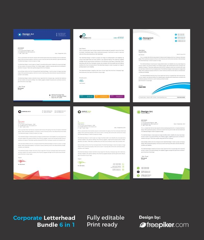 Business Letterhead Bundle Print Templates Pinterest Logo - business letterhead