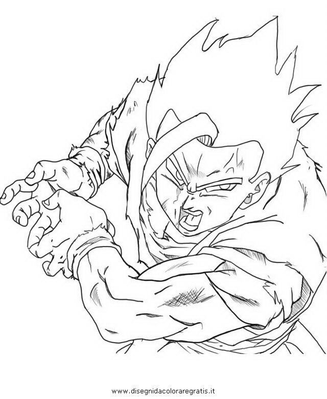 Dragon Ball Z Gohan SSJ2 Kamehameha Coloring Pages | Dragon Ball Z ...