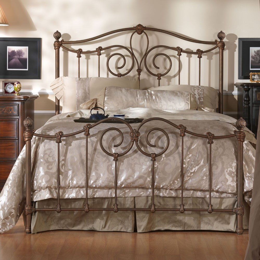 Wesley Allen Olympia King Bed Iron bed, Country bedroom