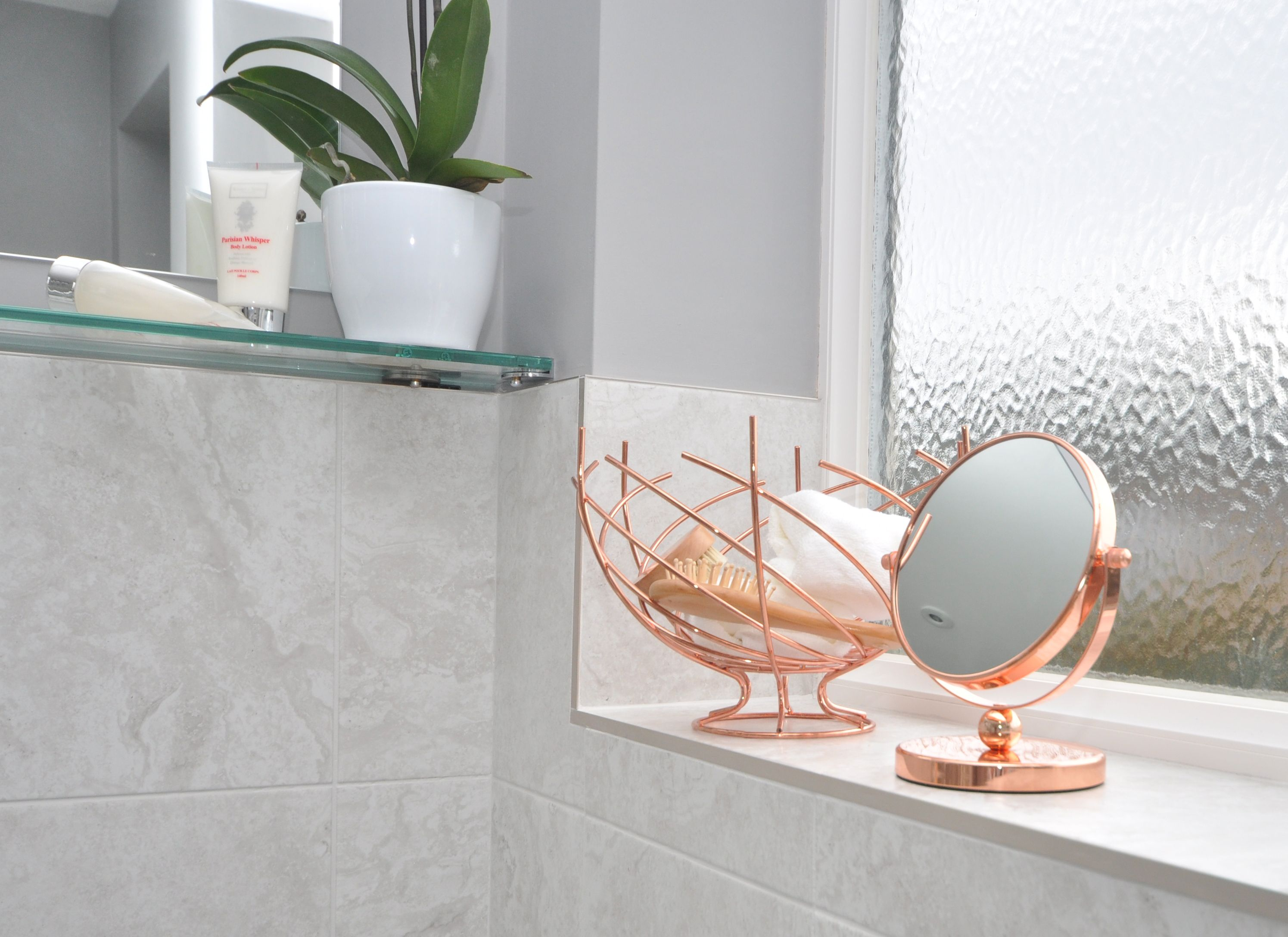 Add touches of rose gold to your bathroom with our rose gold ...