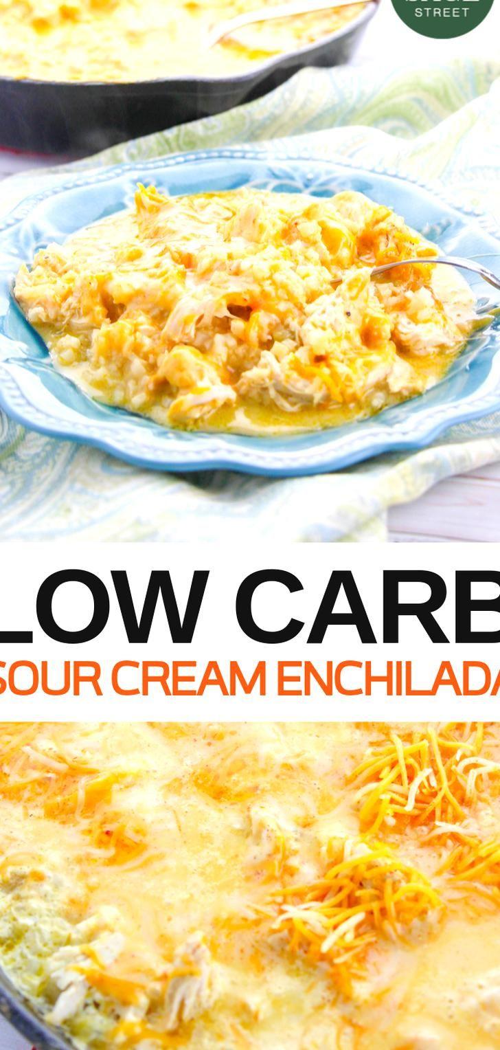 Mexican Recipes Like This Sour Cream Chicken Enchiladas Recipe Are So Ea In 2020 Sour Cream Enchiladas Easy Dinner Recipes Crockpot Rotisserie Chicken Recipes Leftover