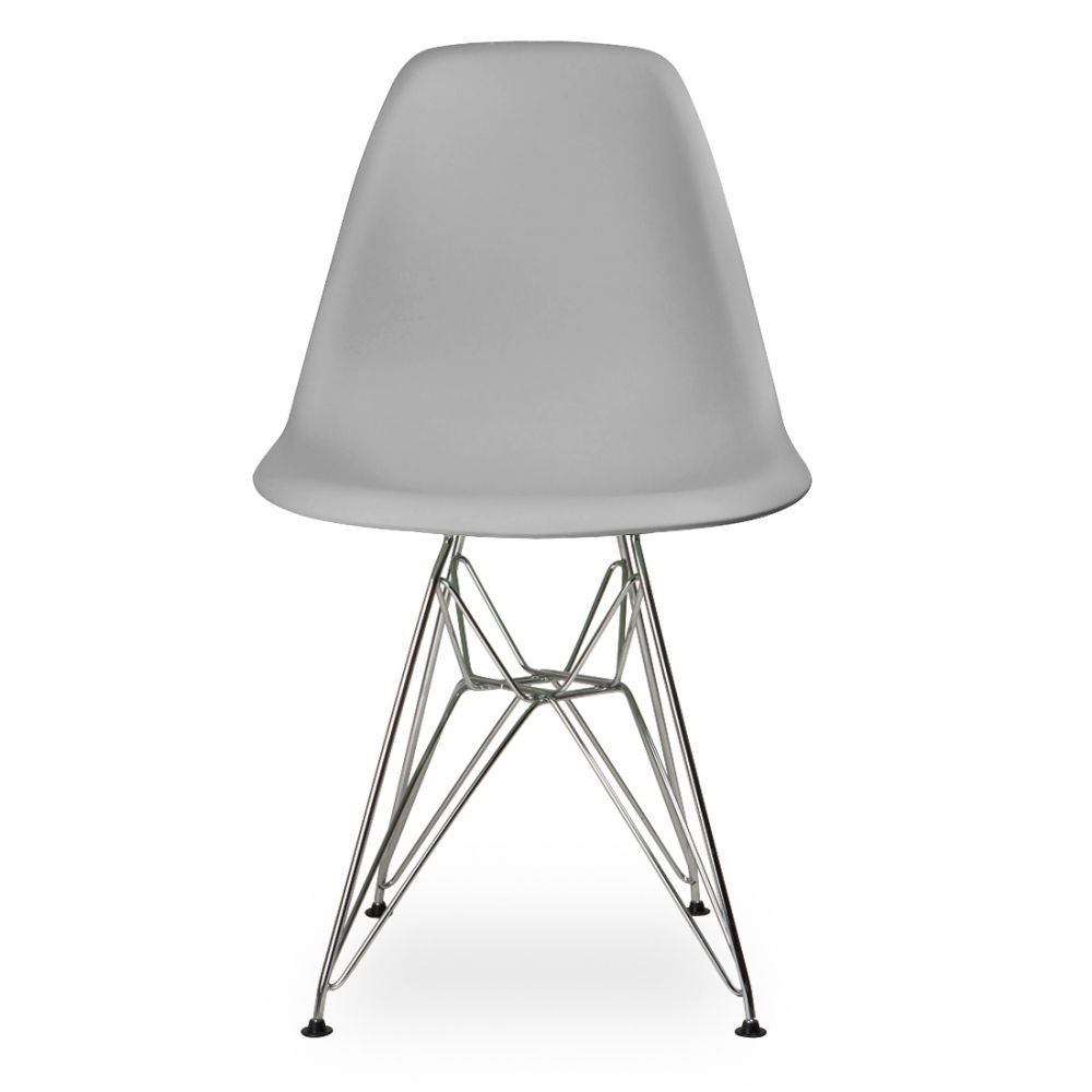 charles eames style cool grey dsr eiffel chair | raphaelle