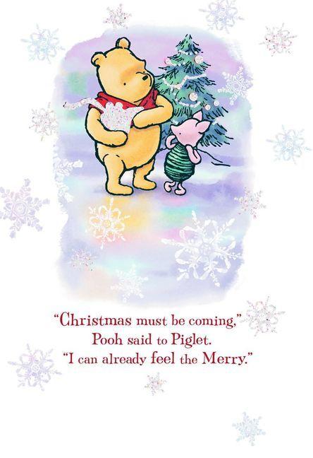 Winnie the Pooh Very Merriest Christmas Card Merry christmas card