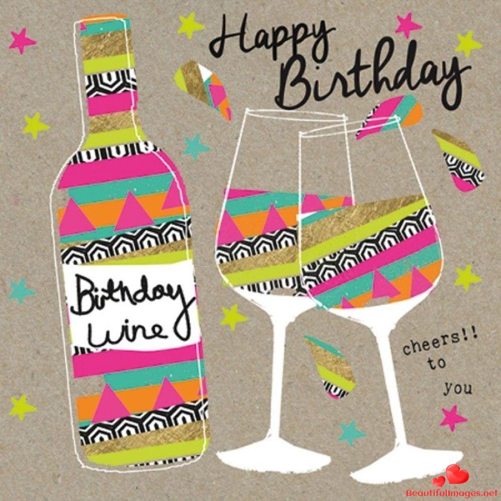 Pin by Lisa Watkins on Junk Drawer Happy birthday wine