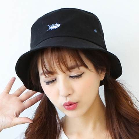 fed6f19b6 Cute fish embroidered bucket hat for girls best hats for sun ...