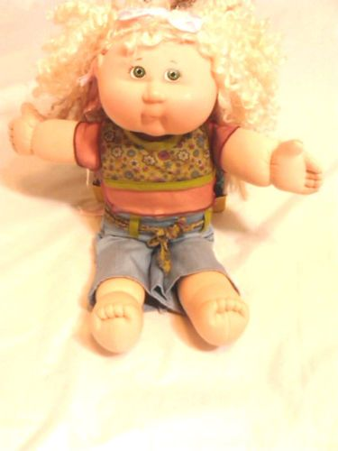 2004 Play Along Cabbage Patch Kid Green Eyes Boho Pant Suit