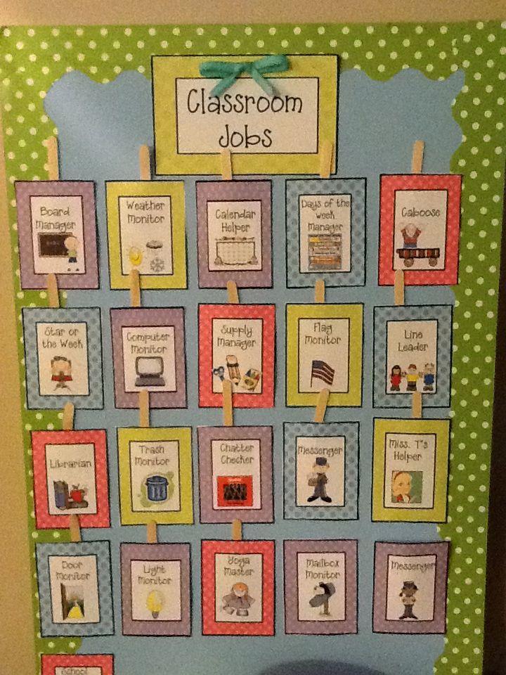 Classroom job ideas elementary : My classroom job board … pinteres…