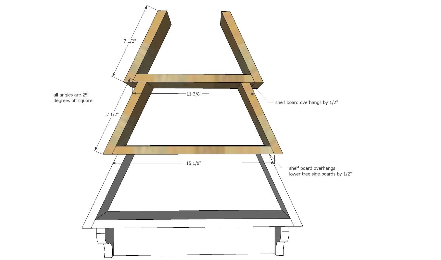 Ana White Build A Tree Wall Shelf Free And Easy Diy Project And