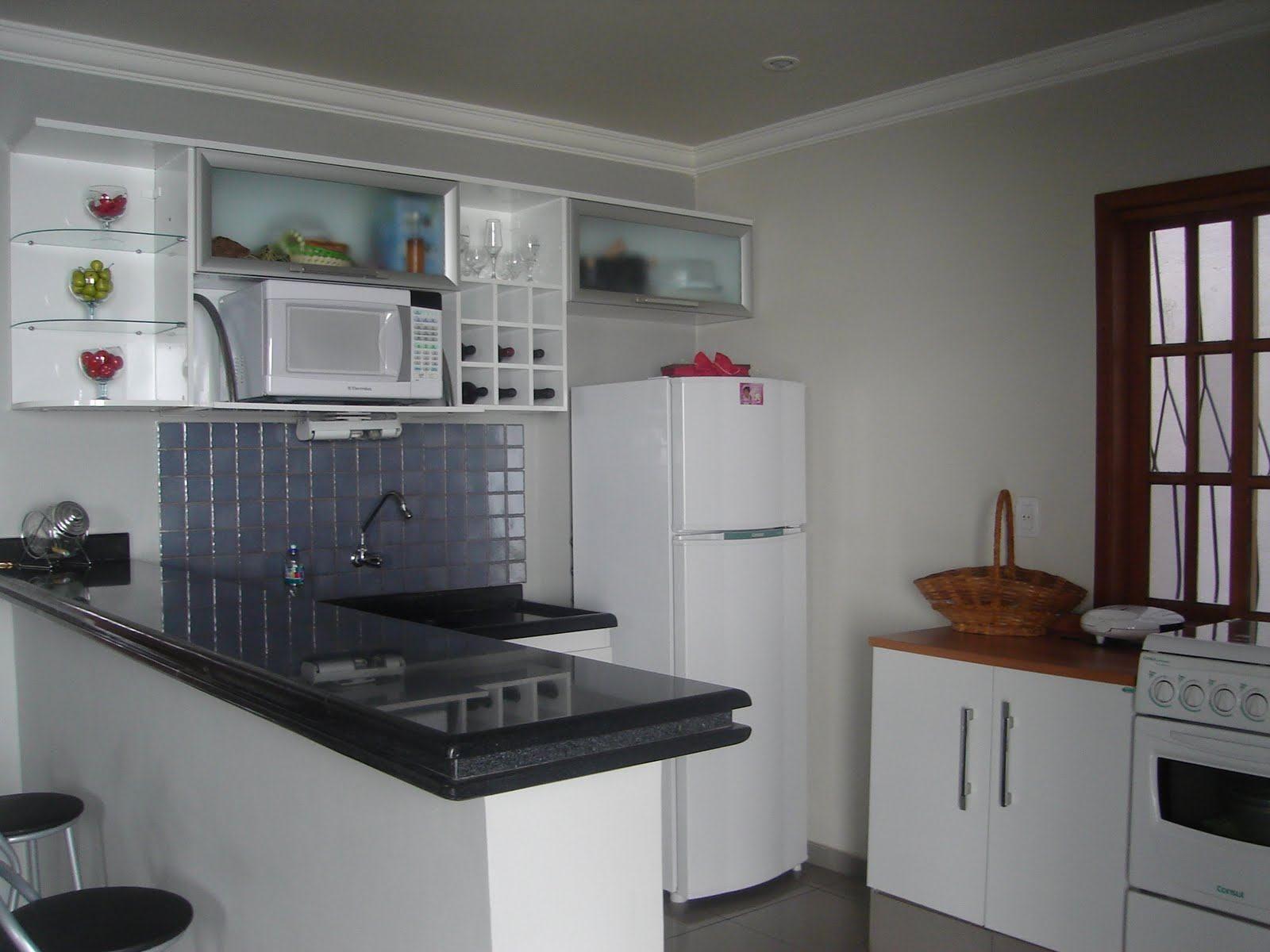 Balc O De Cozinha De Granito Carimbo Parede Pinterest  ~ Modelos De Cozinha Com Balcão