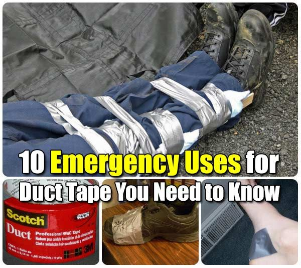 Shtf Emergency Preparedness: 10 Emergency Uses For Duct Tape You Need To Know