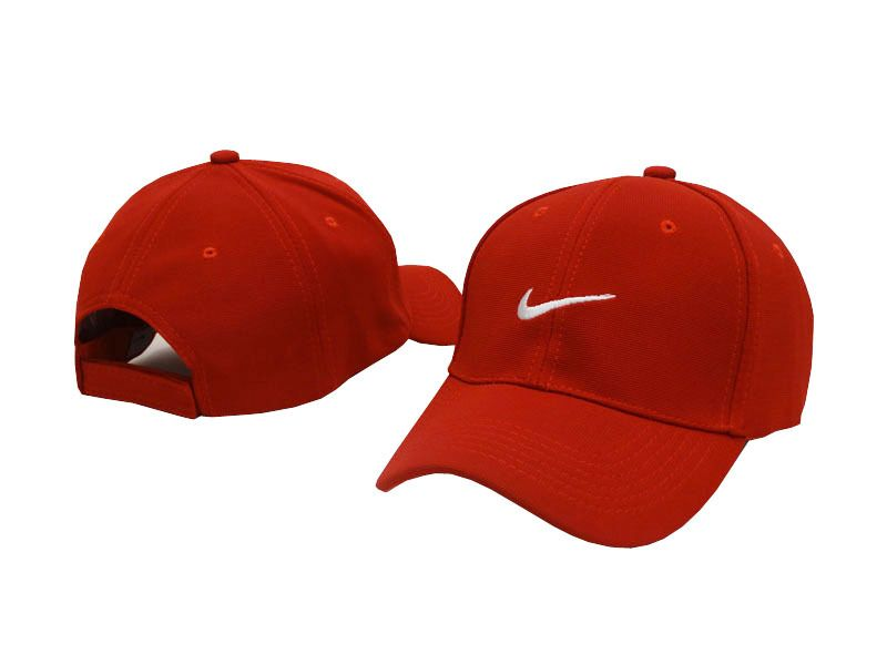 be17f5df7f5 Mens   Womens Nike Classic Icon Logo Embroidery Velcro Strap Back Baseball  Adjustable Cap - Red   White