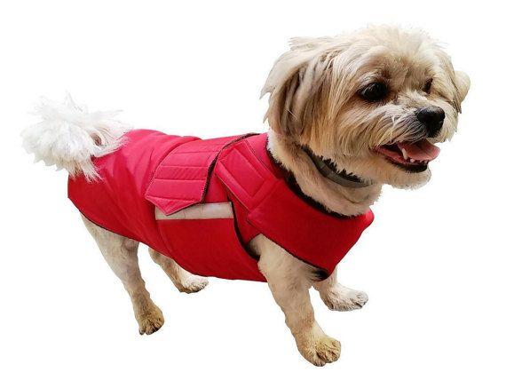 Shih Tzu Winter Dog Coat With Underbelly Protection Dog Jacket