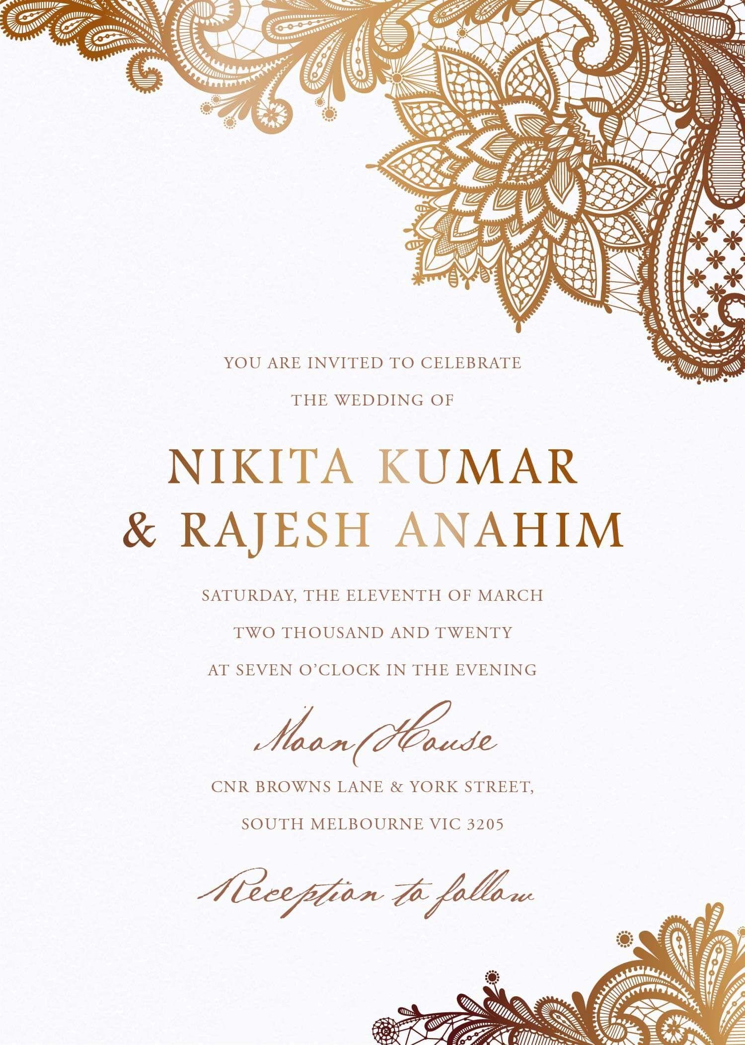 Tirumana Henna Wedding Invitations These Modern Hindu Wedding Invitations Indian Wedding Invitation Cards Foil Wedding Invitations Hindu Wedding Invitations