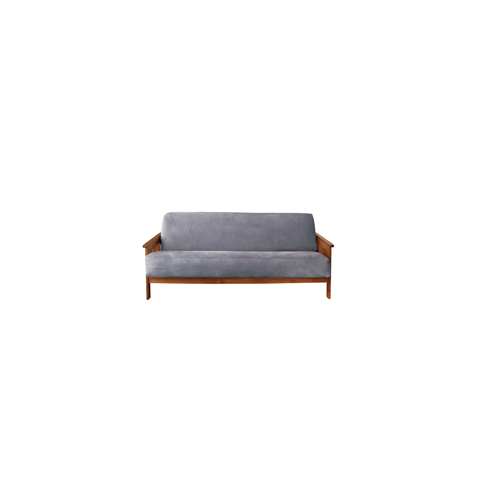Soft Suede Futon Cover Smoke Blue Sure Fit