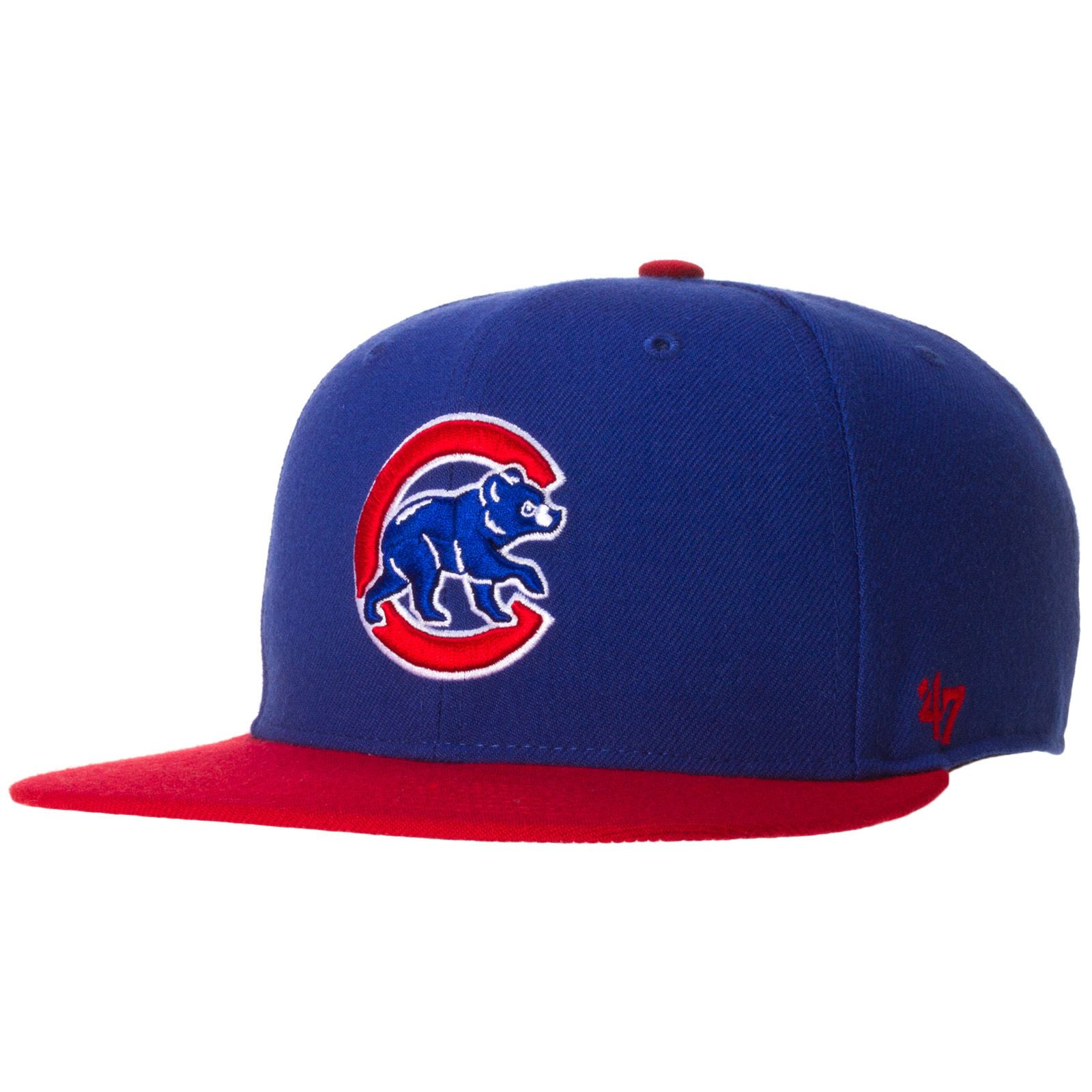 73cbff1ea Chicago Cubs Royal/Red Bill Crawl Bear Snapback with Chicago Flag by 47  Brand #Chicago #Cubs #ChicagoCubs
