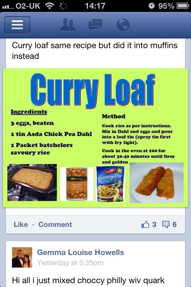 Curry Loaf Slimming World Slimming World Curry Loaf