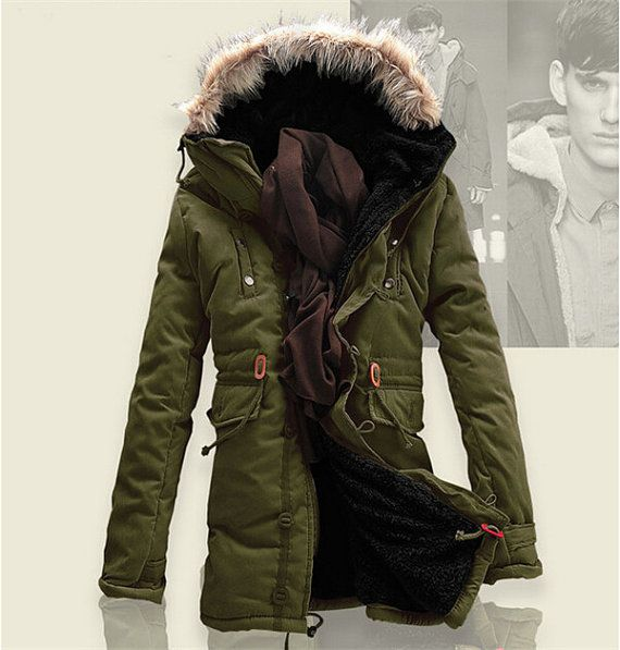 Men Fashion Winter Coat Cotton and hooded by
