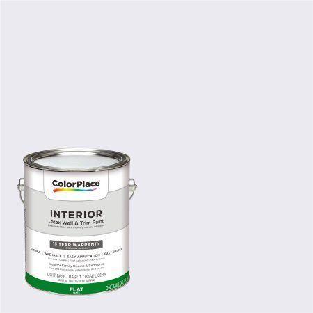 ColorPlace, Interior Paint, Majestic Mountain White, #50BB 83/020, Flat, 1 Gallon