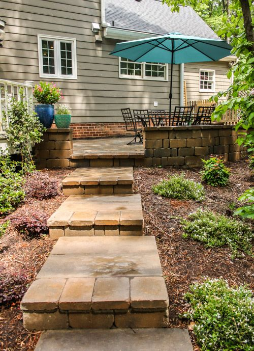 Backyard Landscaping and Patio Reveal outside/gardening