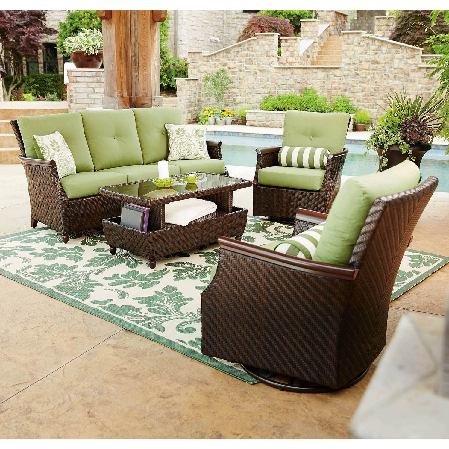 Member S Mark Carnaby Deep Seating Set With Premium Sunbrella Fabric 4 Pc