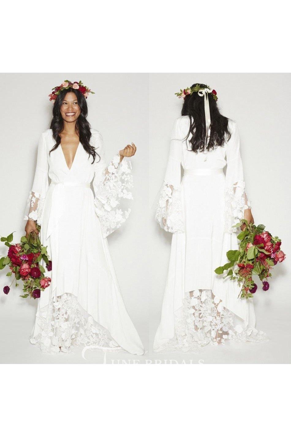 Pin By Hespy On Wedding Bridesmaid Dresses Boho Wedding Dress Long Sleeve Lace Dress Boho [ 1425 x 950 Pixel ]