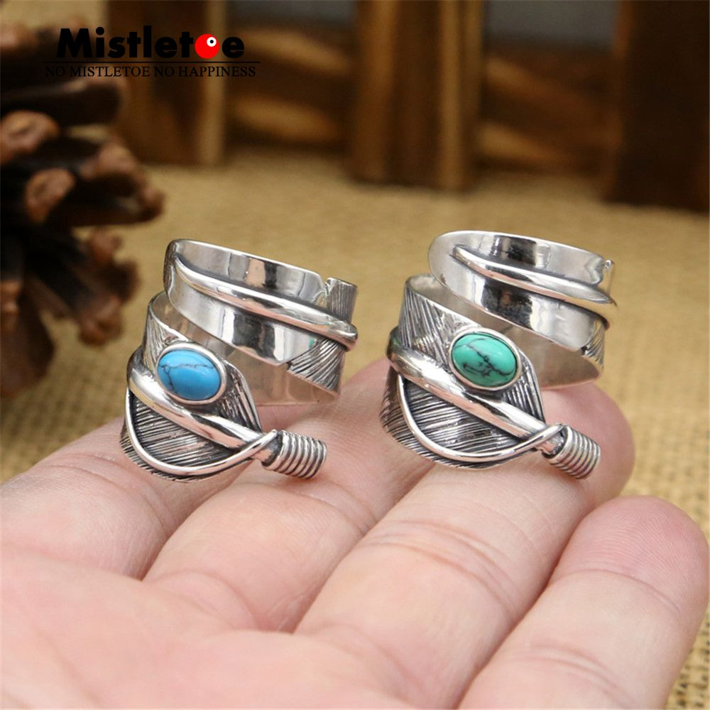 Click to buy ucuc genuine sterling silver vintage punk