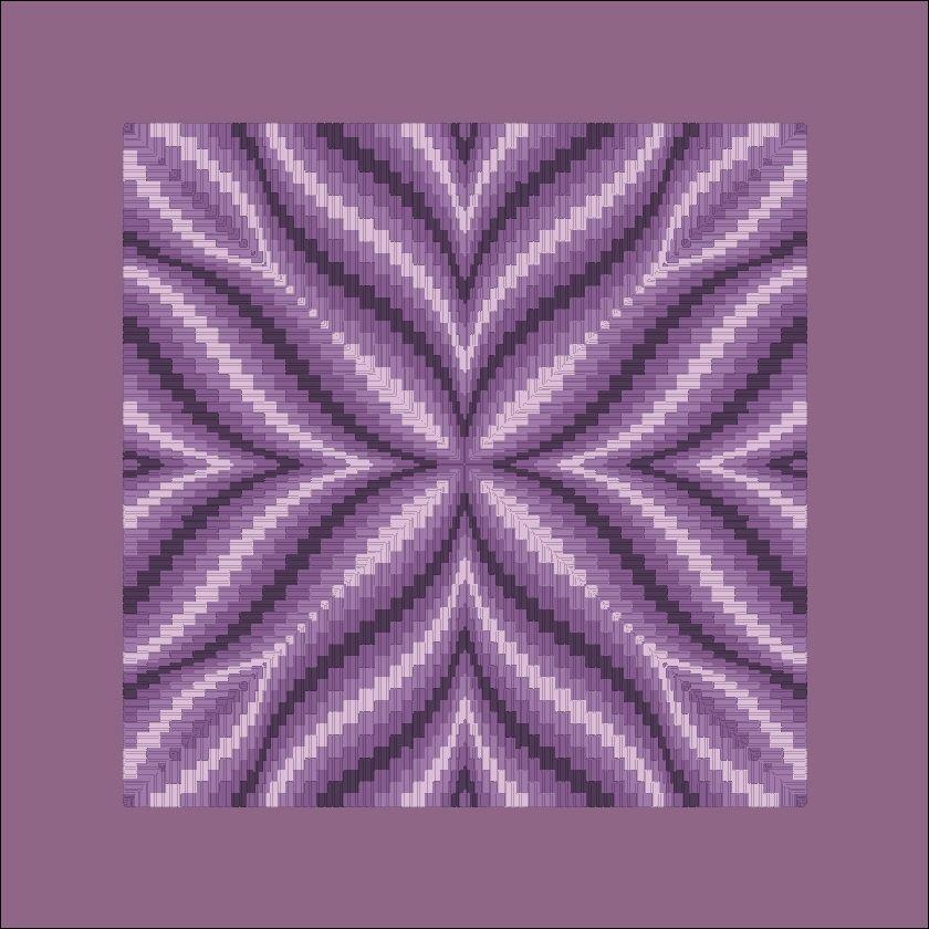 Free Bargello Patterns | violet flower bargello on 14 ct aida salmon ...