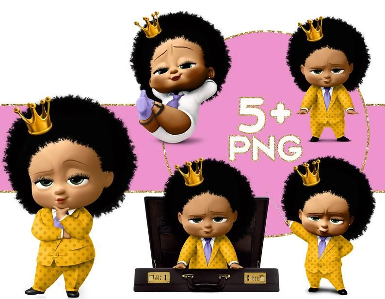 Girl Baby Clipart Png Girl Baby Png Files Black Queen Etsy Clip Art Boss Baby Baby Clip Art