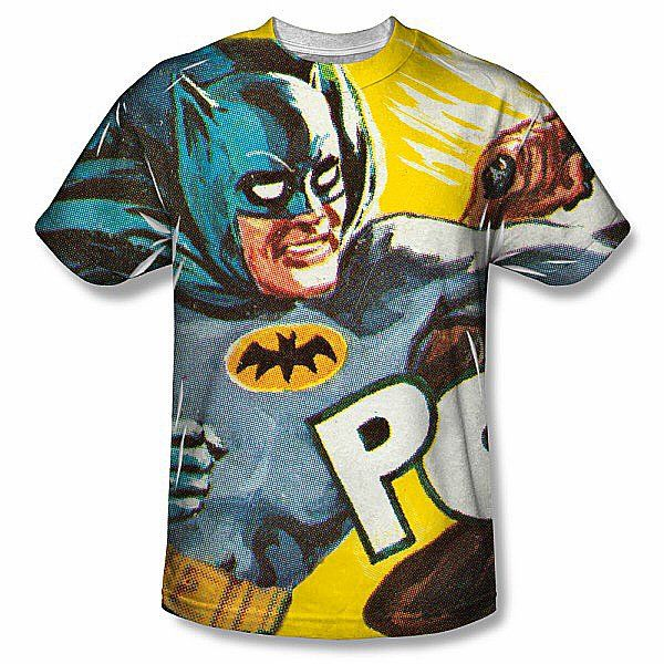 Batman Classic TV Nightly Patrol Allover Sublimation Licensed Adult T Shirt