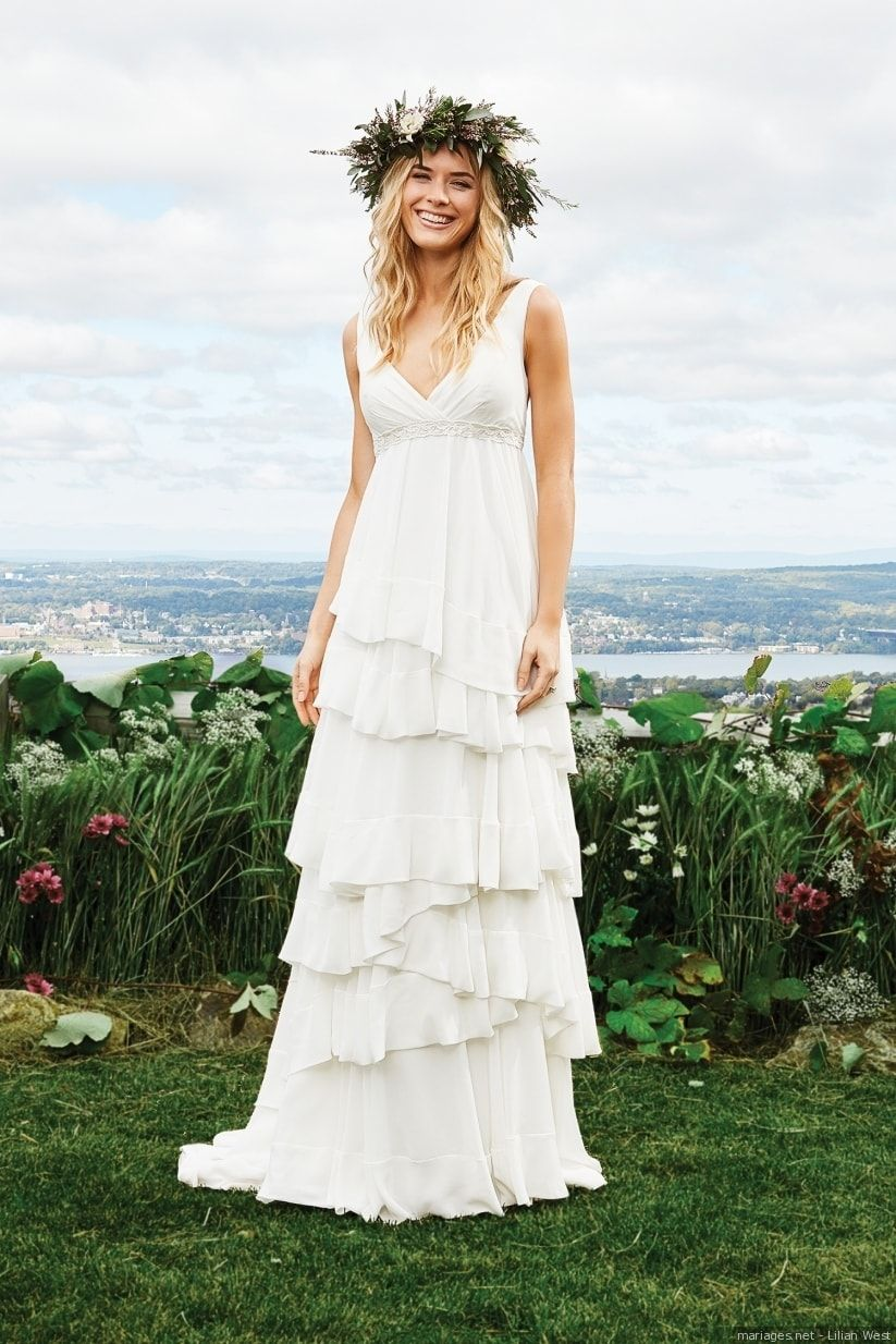 c963d28c41a Robes de mariée empire   30 modèles à la grecque pour le grand jour ...