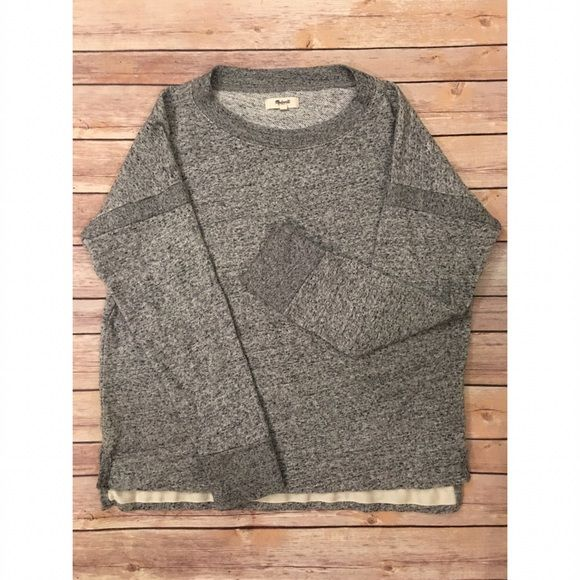 мα∂єωєℓℓ - Comfy Grey Pullover Prices are firm unless bundled No swaps, models, or reserves -- sorry! Madewell Sweaters