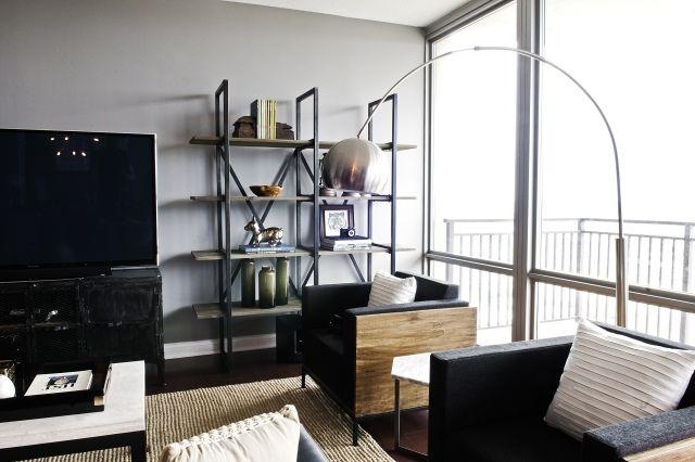 Farbideen wohnzimmer grau  farbideen wohnzimmer graue wände industrieller look | HOME ...