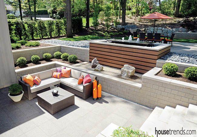 Patio Ideas Contemporary Patio Paving Concrete Fence Design