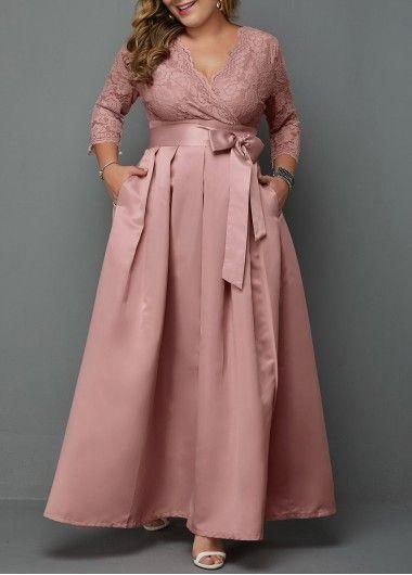 Photo of Plus Size Three Quarter Sleeve Sequin Embellished Dress   Rotita.com – USD $34.6…