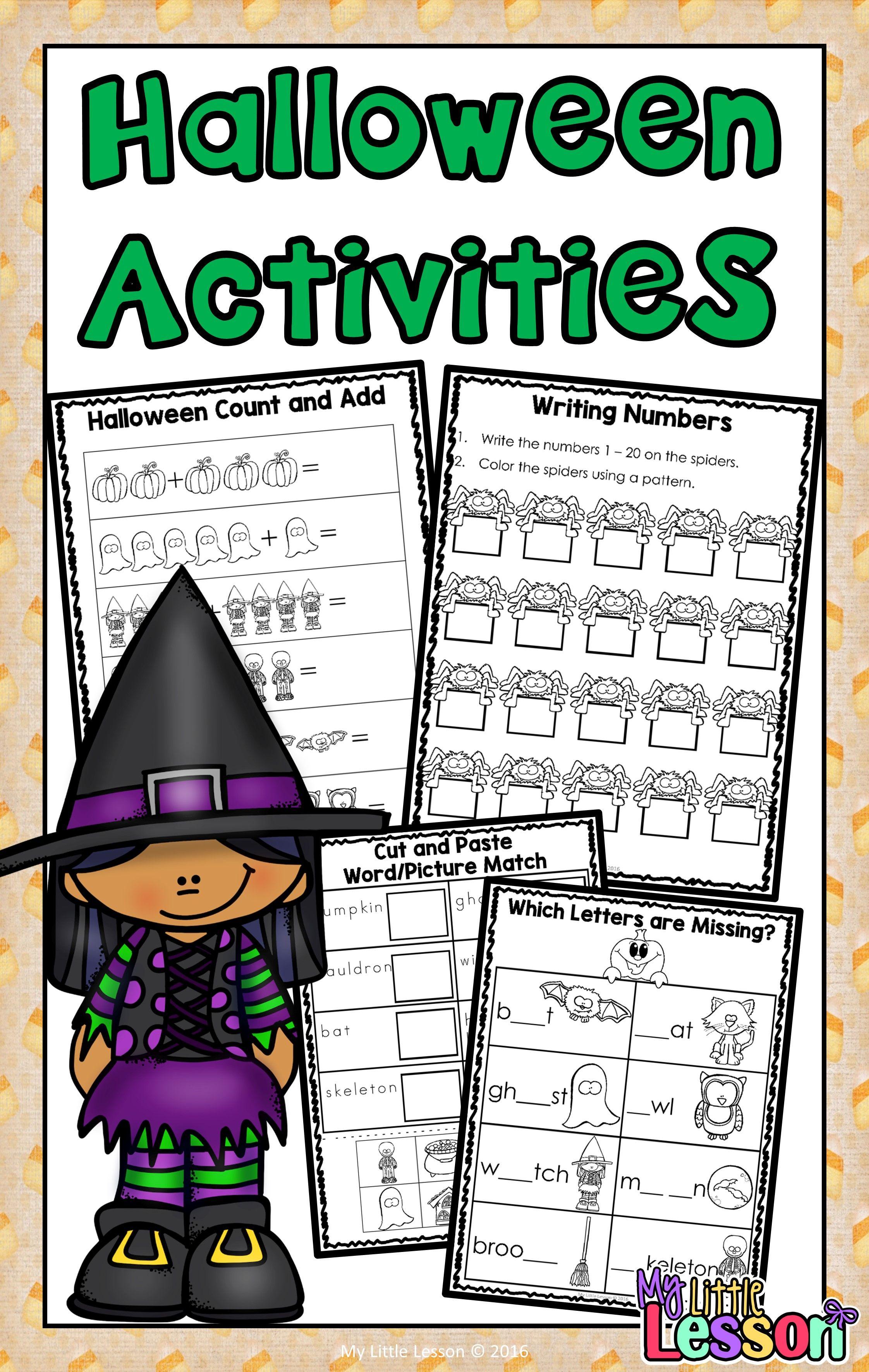 Halloween Activities Math And English Worksheets