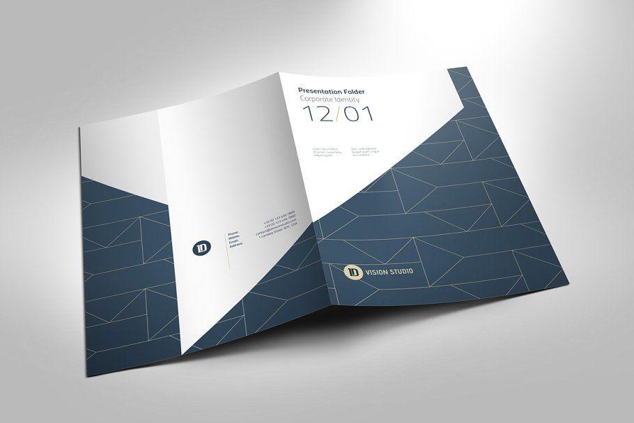 Ad: Presentation Folder Template 005 by ID Vision Studio on Creative Market. ---...
