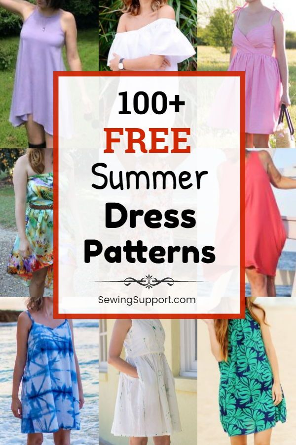 100+ Free Summer Dress Patterns for Women #summerdresses