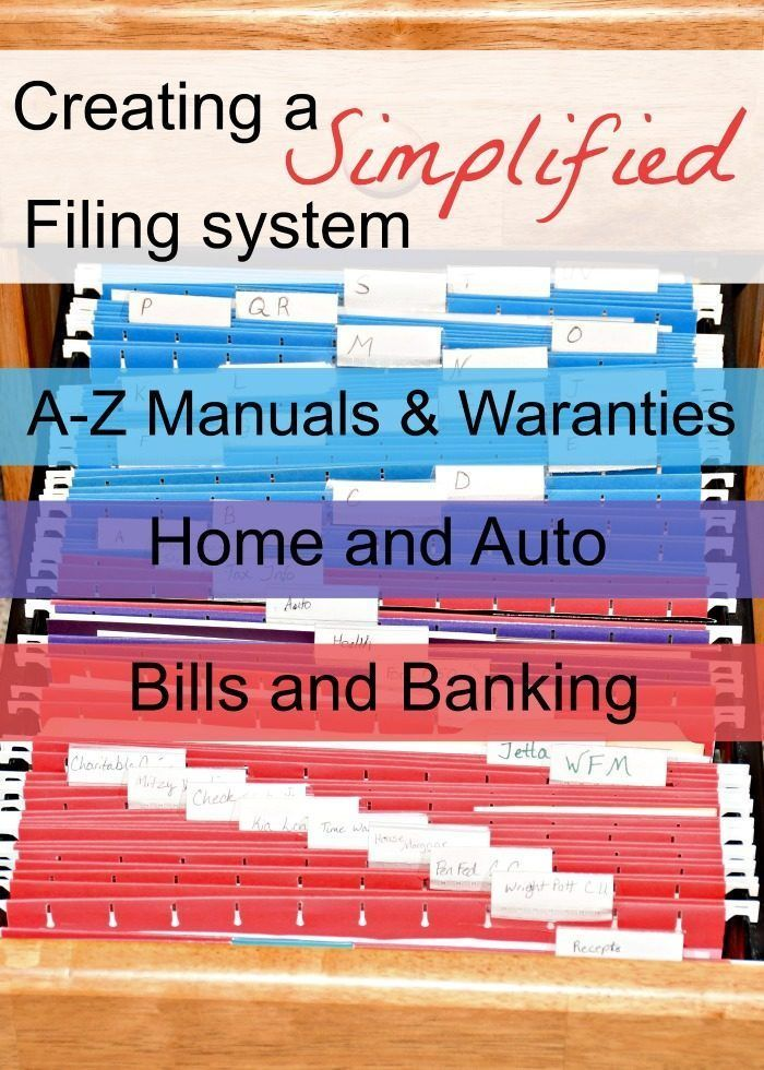 Creating a Simple Filing System for Personal and Business is part of File Organization System - How to bust the paper clutter by creating a simple filing system that works with you instead of against you! Click here to learn more about creating your