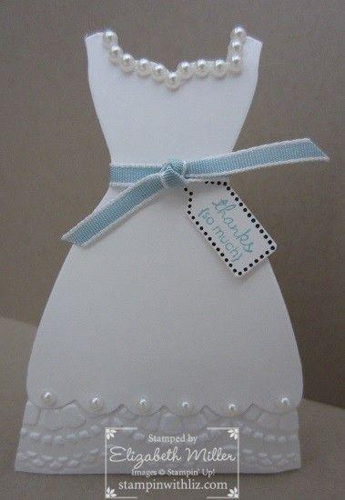 Stampin Up Wedding Bridal Shower Favor Box Idea Using Dress Framelits