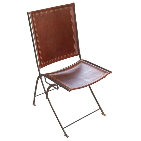 Merveilleux 1stdibs.com | Leather And Steel Campaign Folding Chairs