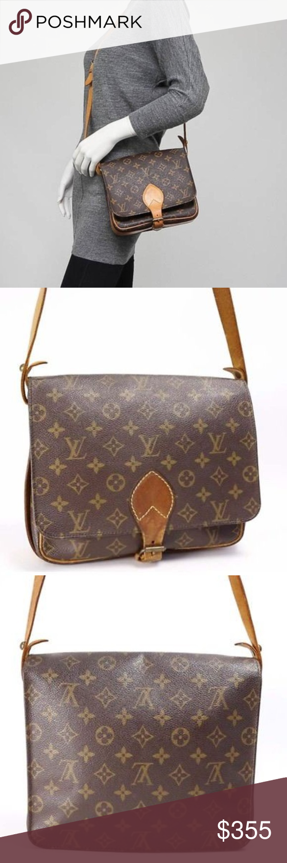 Authentic Louis Vuitton Cartouchiere MM Bag Adorable