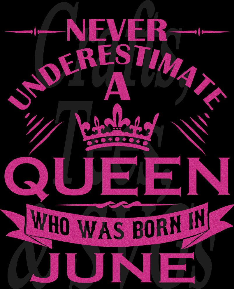 Queen Born in JUNEAUGUST SVG File by TheDivaBlingStore on