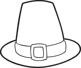photo relating to Printable Pilgrim Hat named Pin upon Thanksgiving