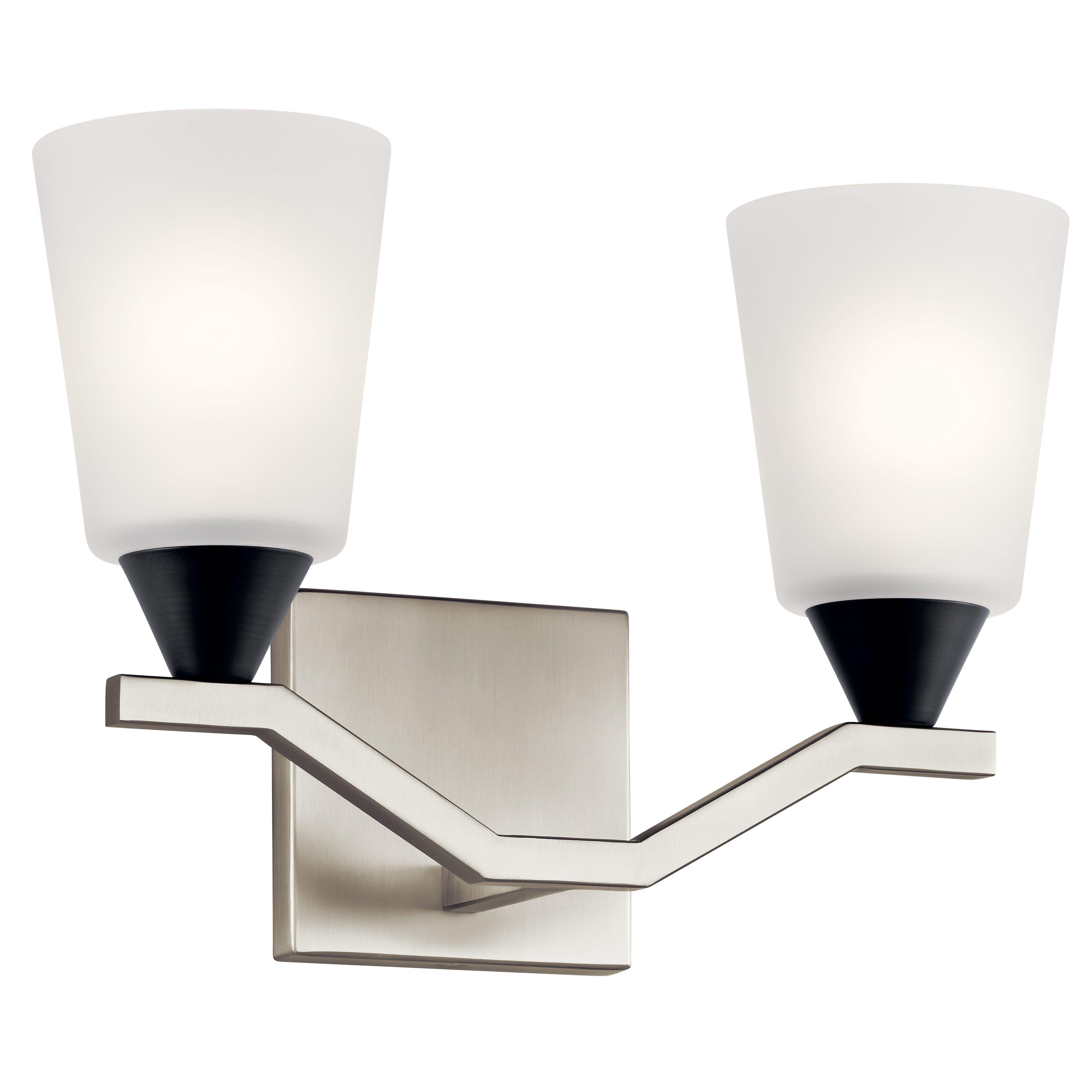 "Photo of Kichler Skagos 2-Light 14 ""wash basin lamp made of brushed nickel"