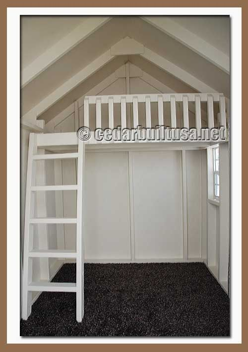 Height enough to build loft paint inside white for Playhouse ideas inside