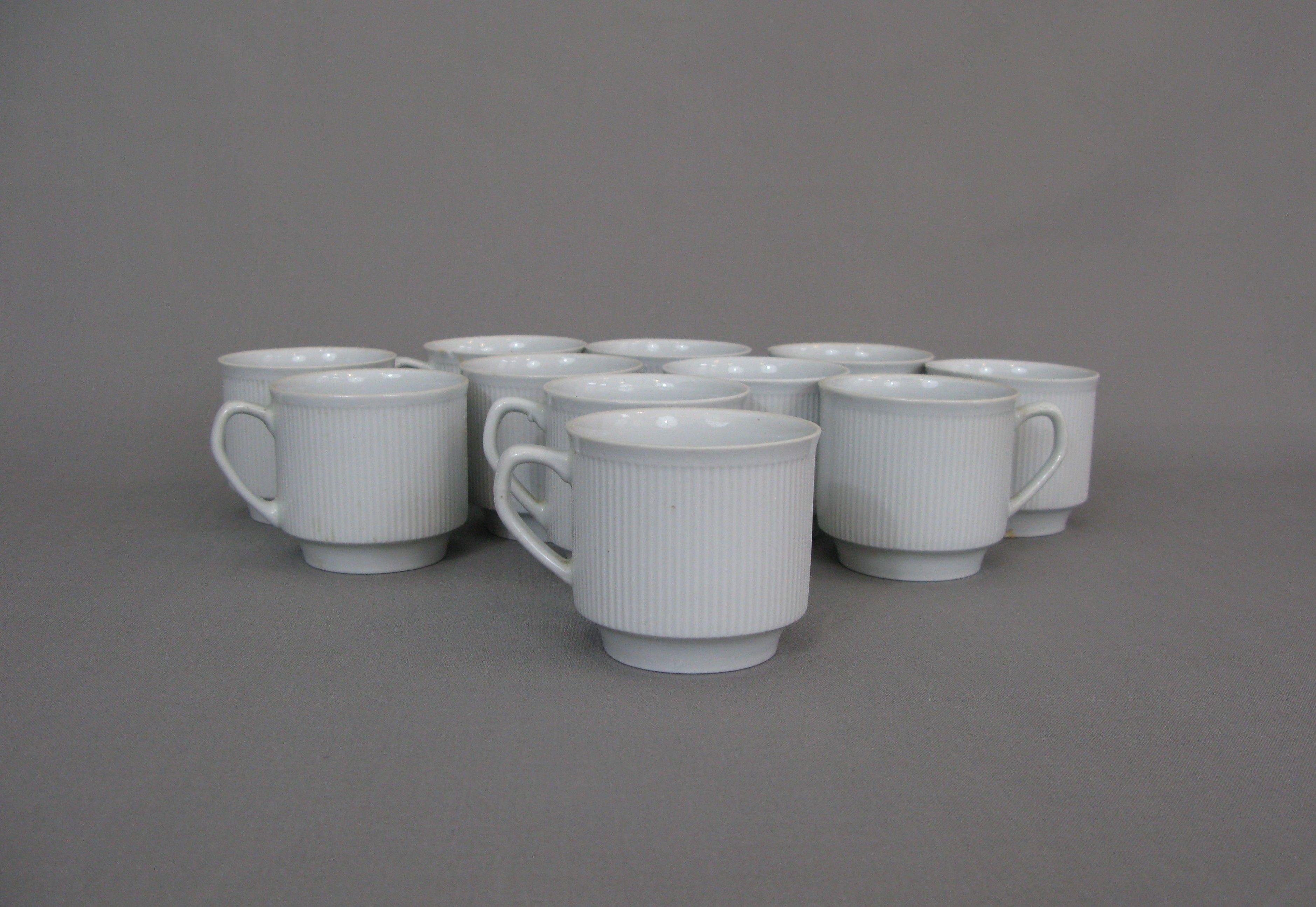 Filiżanki Barowe Z Chodzieży Epoki Prl Porcelana Ceramika